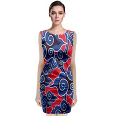 Batik Background Vector Classic Sleeveless Midi Dress