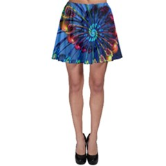 Top Peacock Feathers Skater Skirt