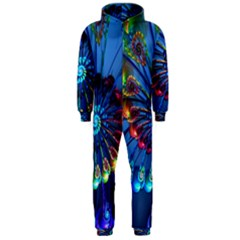 Top Peacock Feathers Hooded Jumpsuit (Men)