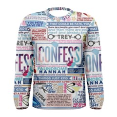 Book Collage Based On Confess Men s Long Sleeve Tee