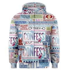 Book Collage Based On Confess Men s Zipper Hoodie
