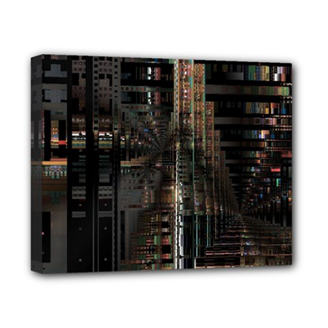 Black technology Circuit Board Electronic Computer Canvas 10  x 8