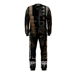Black technology Circuit Board Electronic Computer OnePiece Jumpsuit (Kids)