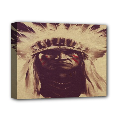 Indian Apache Deluxe Canvas 14  x 11