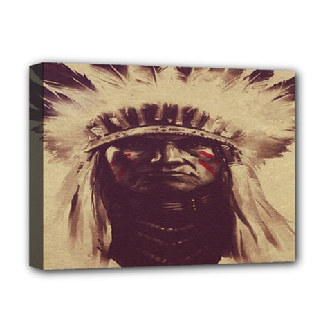 Indian Apache Deluxe Canvas 16  x 12