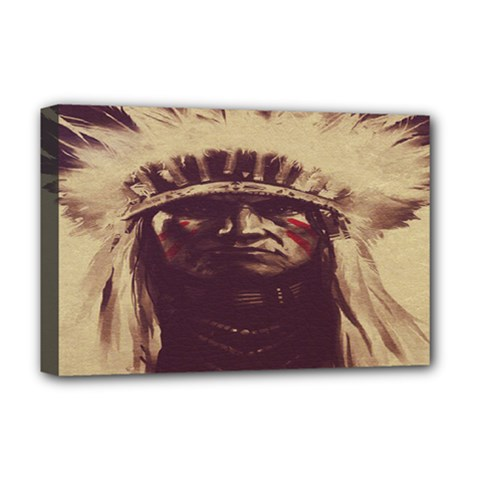 Indian Apache Deluxe Canvas 18  x 12