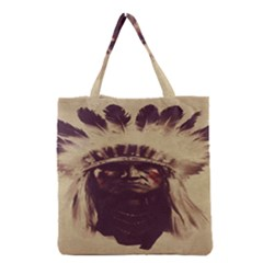 Indian Apache Grocery Tote Bag