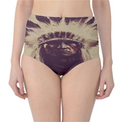 Indian Apache High-Waist Bikini Bottoms