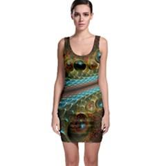 Fractal Snake Skin Sleeveless Bodycon Dress