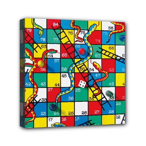 Snakes And Ladders Mini Canvas 6  x 6