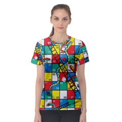 Snakes And Ladders Women s Sport Mesh Tee