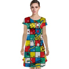 Snakes And Ladders Cap Sleeve Nightdress