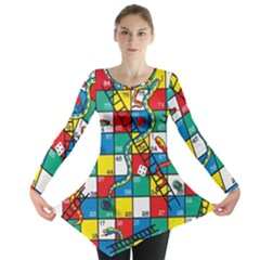 Snakes And Ladders Long Sleeve Tunic