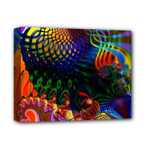 Colored Fractal Deluxe Canvas 14  x 11