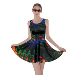 Colored Fractal Skater Dress