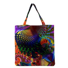 Colored Fractal Grocery Tote Bag