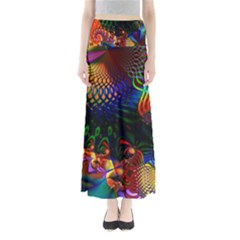 Colored Fractal Maxi Skirts