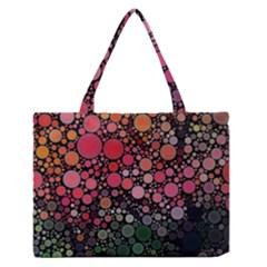 Circle Abstract Medium Zipper Tote Bag