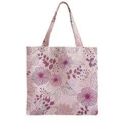 Leaves Pattern Zipper Grocery Tote Bag