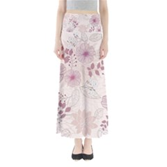 Leaves Pattern Maxi Skirts