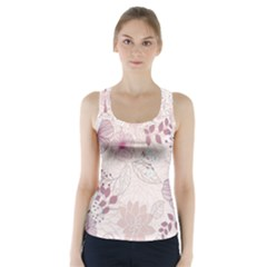 Leaves Pattern Racer Back Sports Top