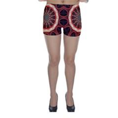 Circle Pattern Skinny Shorts