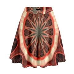 Circle Pattern High Waist Skirt