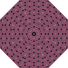Triangle Knot Pink And Black Fabric Golf Umbrellas