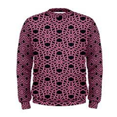 Triangle Knot Pink And Black Fabric Men s Sweatshirt