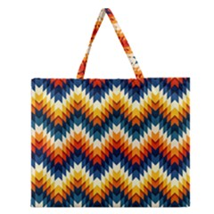 The Amazing Pattern Library Zipper Large Tote Bag