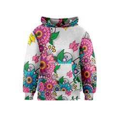 Flowers Pattern Vector Art Kids  Pullover Hoodie