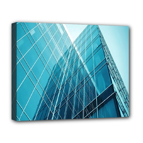 Glass Bulding Deluxe Canvas 20  x 16