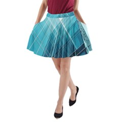 Glass Bulding A-Line Pocket Skirt