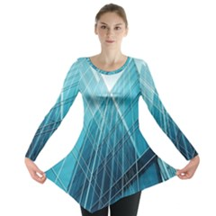 Glass Bulding Long Sleeve Tunic