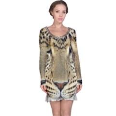 Leopard Face Long Sleeve Nightdress