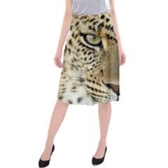 Leopard Face Midi Beach Skirt