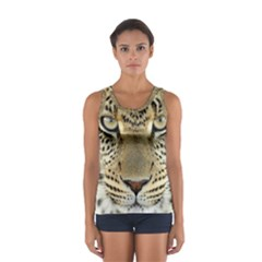 Leopard Face Women s Sport Tank Top