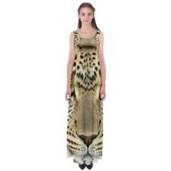 Leopard Face Empire Waist Maxi Dress