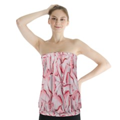 Intricate Texture Pattern Strapless Top