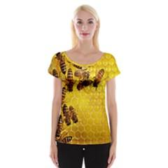 Honey Honeycomb Women s Cap Sleeve Top