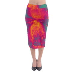 Space Midi Pencil Skirt