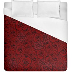 Red Roses Field Duvet Cover (king Size)