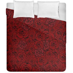 Red Roses Field Duvet Cover Double Side (california King Size)