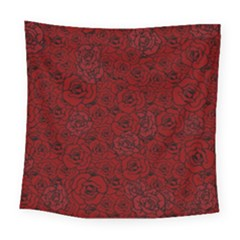 Red Roses Field Square Tapestry (large)