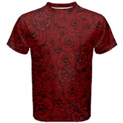 Red Roses Field Men s Cotton Tee