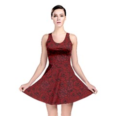 Red Roses Field Reversible Skater Dress