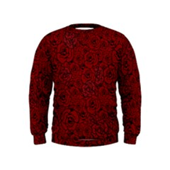 Red Roses Field Kids  Sweatshirt