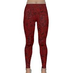 Red Roses Field Classic Yoga Leggings