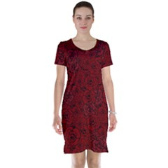 Red Roses Field Short Sleeve Nightdress