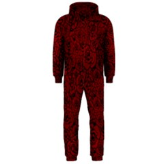 Red Roses Field Hooded Jumpsuit (men)